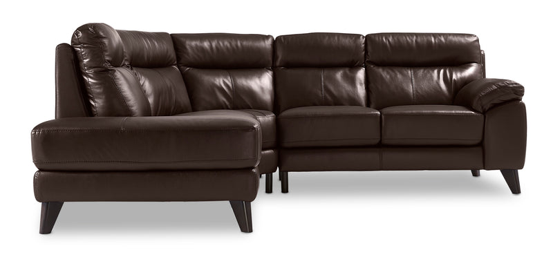 Ashe 2-Piece Sectional with Left-Facing Chaise - Dark Chocolate