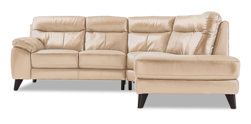 Ashe 2-Piece Sectional with Right-Facing Chaise - Bisque