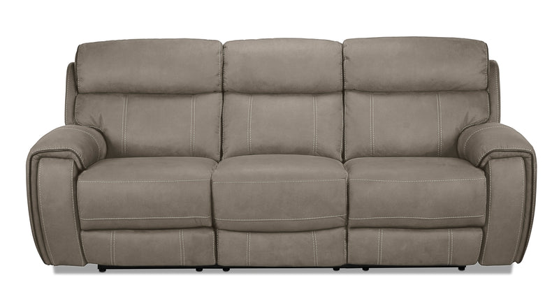 Martin Power Reclining Sofa - Silver Grey