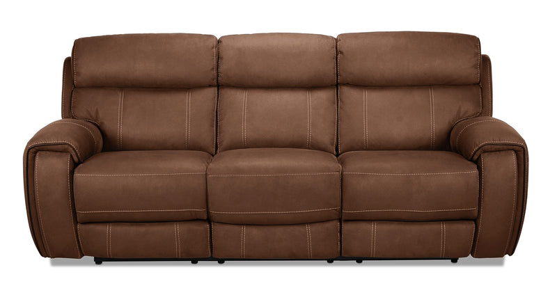 Martin Power Reclining Sofa - Hazelnut