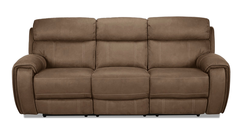 Martin Power Reclining Sofa - Tobacco