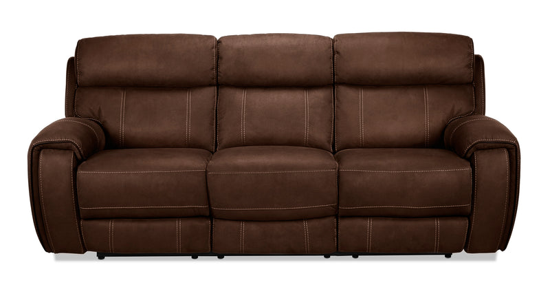 Martin Power Reclining Sofa - Walnut