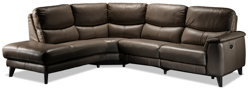 Delvanie 2-Piece Power Reclining Sectional with Left-Facing Chaise - African Grey