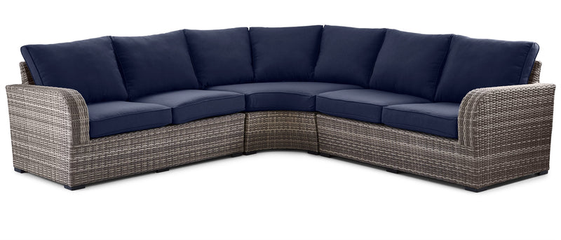 Melville 3-Piece Outdoor Sectional - Navy