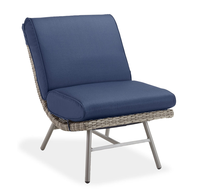 Scoop Armless Lounge Chair - Navy
