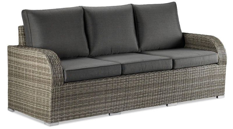 Melville 4 Piece Outdoor Sofa Set With Banquette Table Grey
