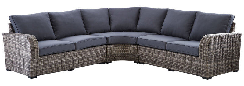 Melville 3-Piece Outdoor Sectional - Grey