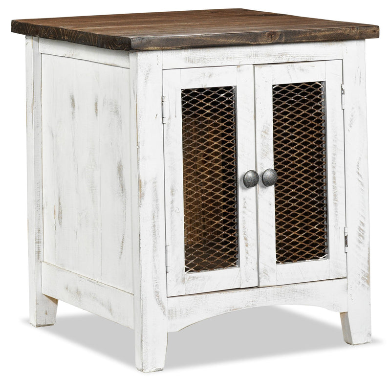Pueblo End Table - White