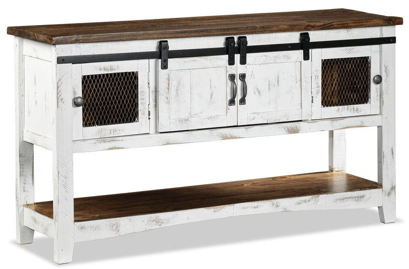 Pueblo Sofa Table - White