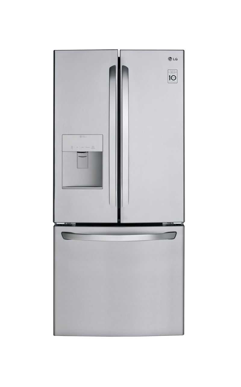 "LG 30"" Smudge Resistant Stainless Steel French Door Refrigerator with Water dispenser (22 cu. ft.)"