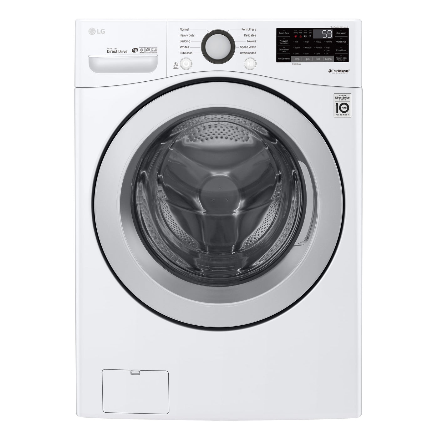 Lg Appliance White Front-Load Washer (9.9 Cu. Ft.) - WM3900CW