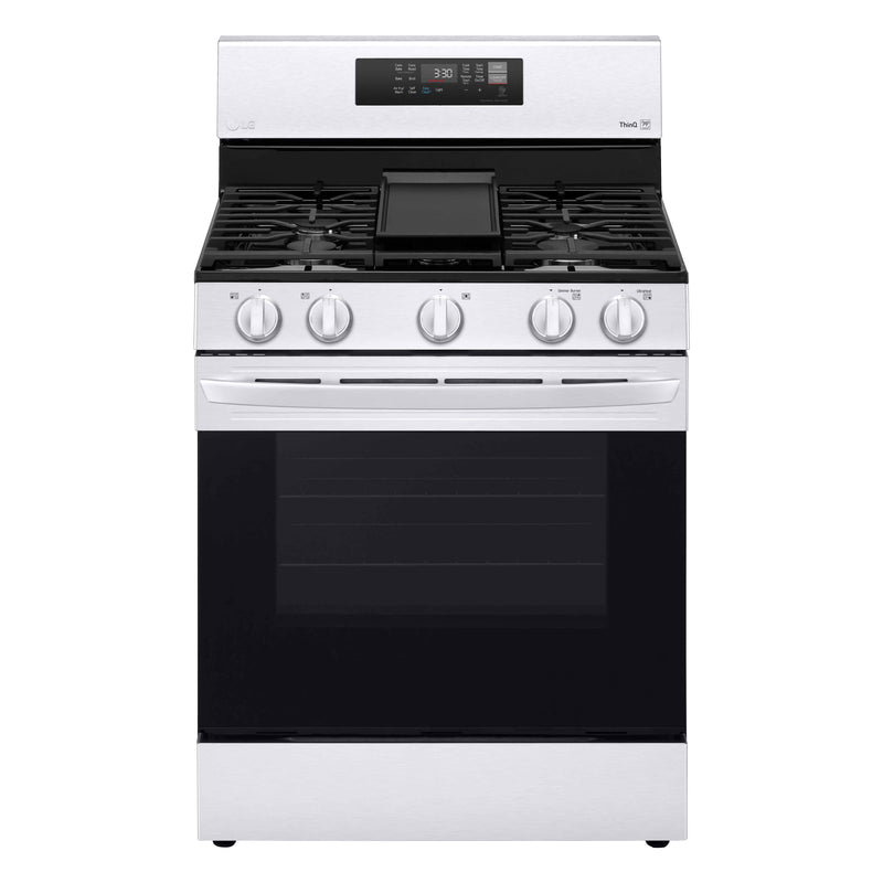 LG Stainless Steel Smart Wi-Fi Enabled Gas ThinQ® Range with Air Fry and Fan Convection (5.8 Cu.Ft.) - LRGL5823S