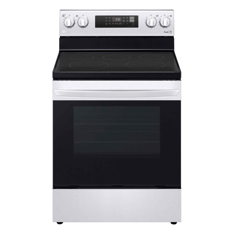 LG Stainless Steel Smart Wi-Fi Enabled Electric Range with EasyClean (6.3 Cu. FT.) - LREL6321S