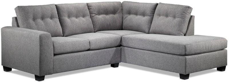 Estelle 2-Piece Sectional with Right-Facing Chaise - Grey