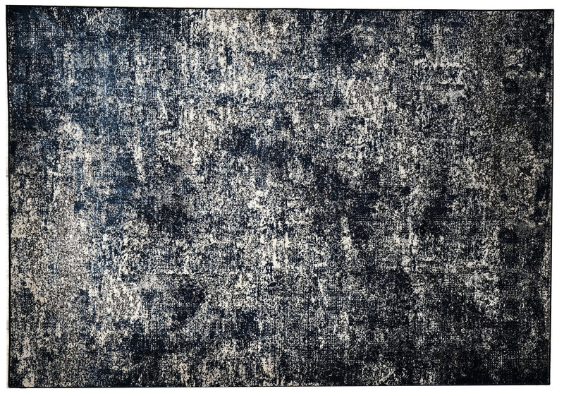 Imperial Collection 5x8 Area Rug – Blue-Black