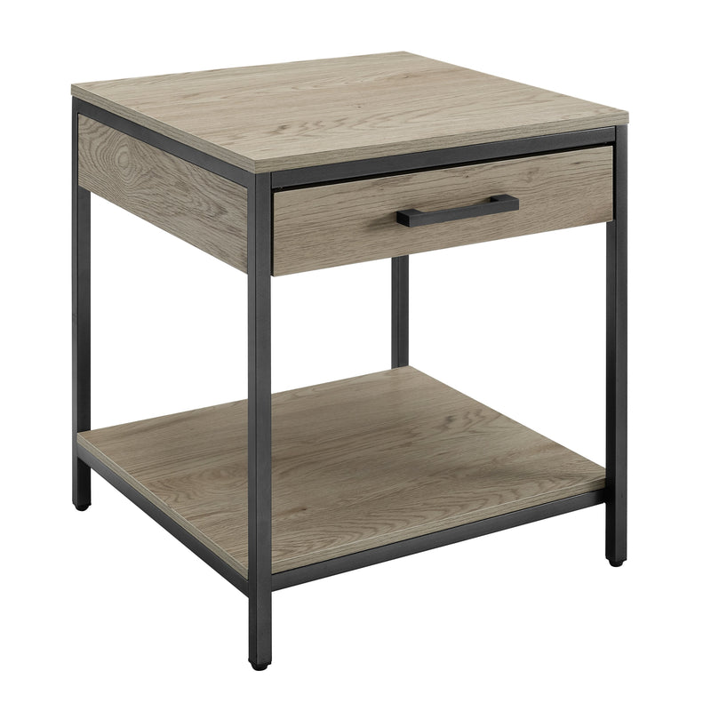 Tatum End Table with Drawer - Driftwood