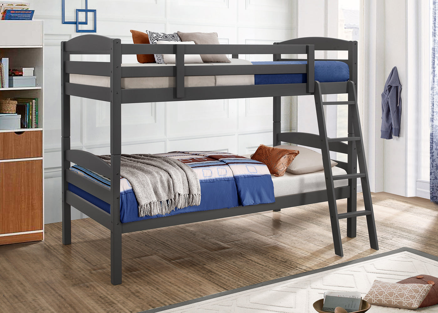 Picture of: Charlie Twin Bunk Bed Grey Leon S