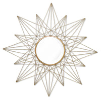 Estra Mirror - Antique Brass