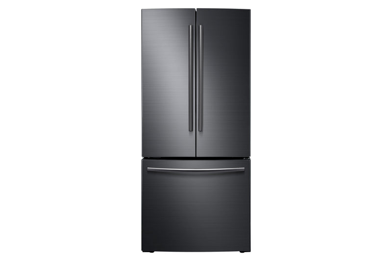 Samsung Black Stainless Steel French Door Refrigerator (21.6 Cu. Ft) - RF220NCTASG