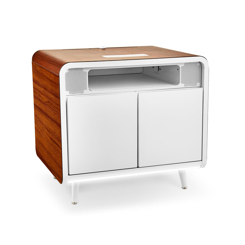 Sobro Smart End Table - White and Wood