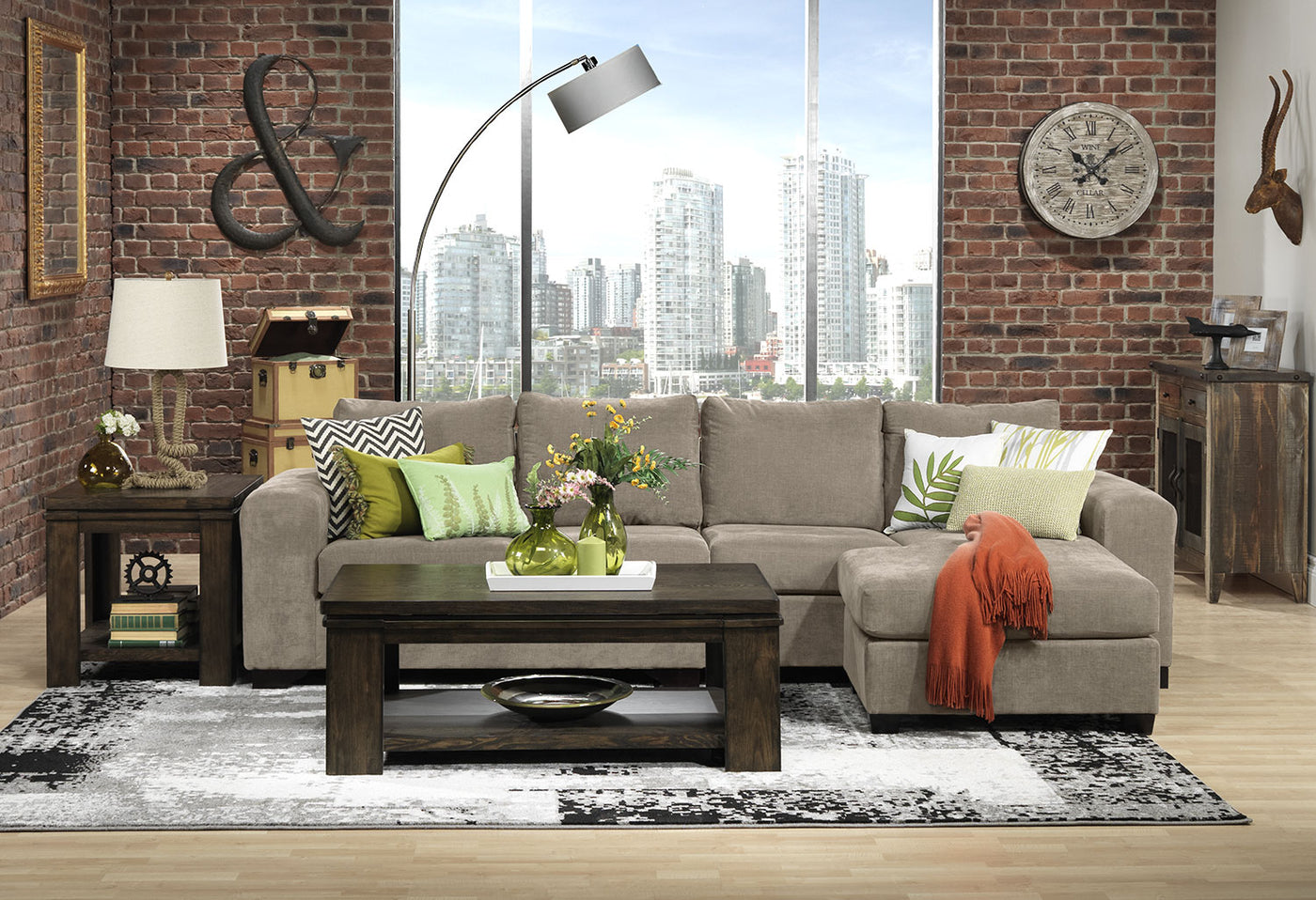Danielle 2 Piece Sectional With Right Facing Chaise