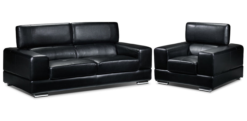 Driscoll Sofa and Chair Set - Black
