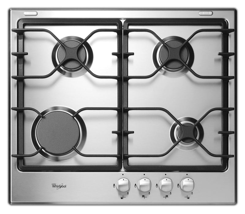 "Whirlpool Stainless Steel 24"" Gas Cooktop - WCG52424AS"