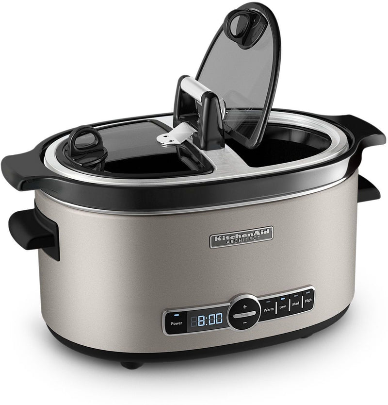 KitchenAid Cocoa Silver Architect 6-Quart Slow Cooker - KSC6222ACS
