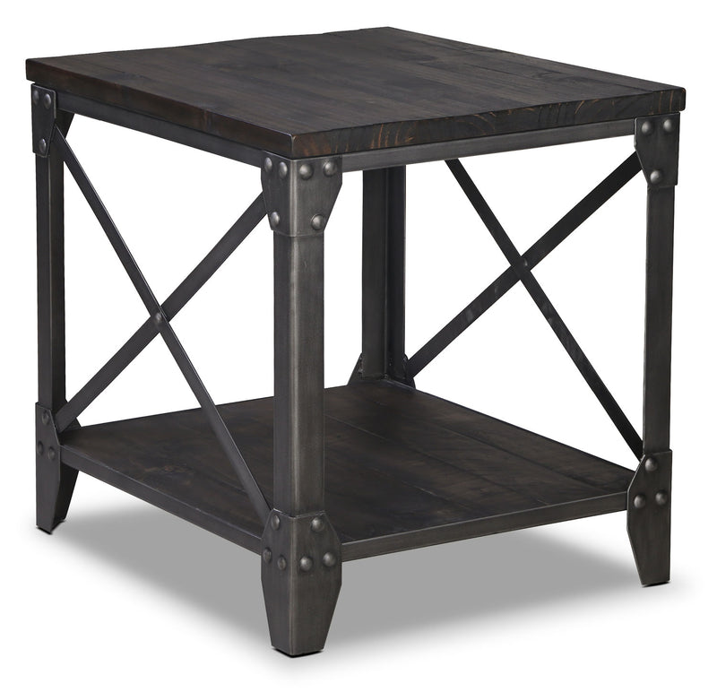 Pinebrook End Table - Grey