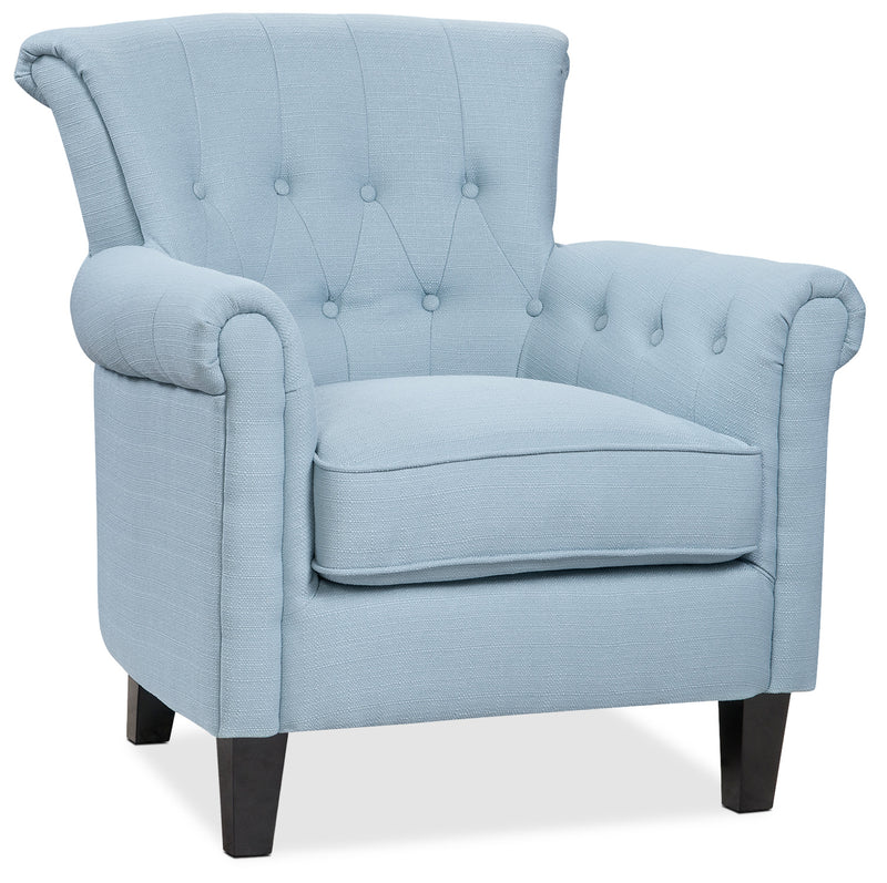 Molly Accent Chair - Aqua Blue