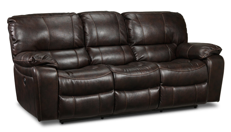 Santorini Power Reclining Sofa - Walnut