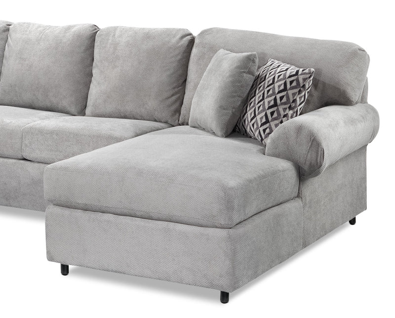 Enjoyable Covina 4 Piece Sectional With Right Facing Chaise Ash Gmtry Best Dining Table And Chair Ideas Images Gmtryco