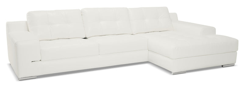 Bimini 2-Piece Sectional with Right-Facing Chaise - Snow