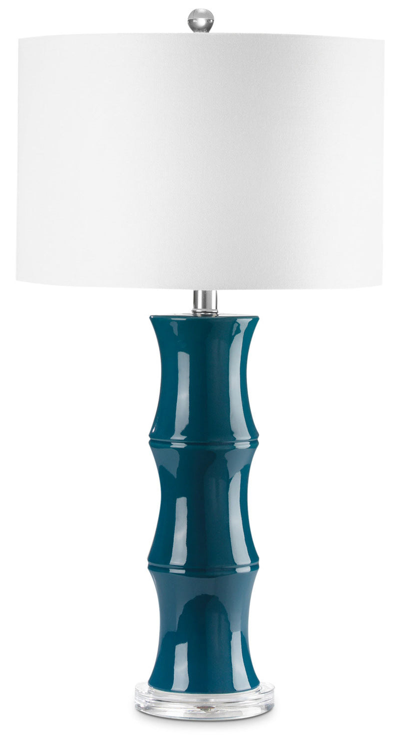 "Yana 27"" Table Lamp - Blue and White"