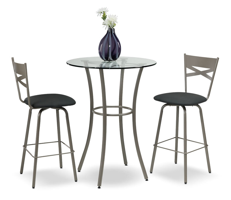 Lotus 3-Piece Pub-Height Dinette Set - Bronze