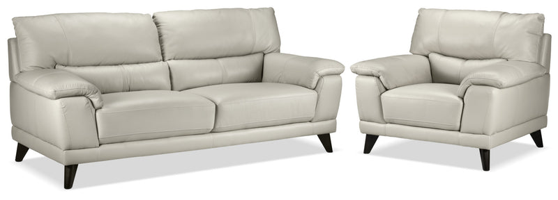 Braylon Sofa and Chair Set - Silver Grey