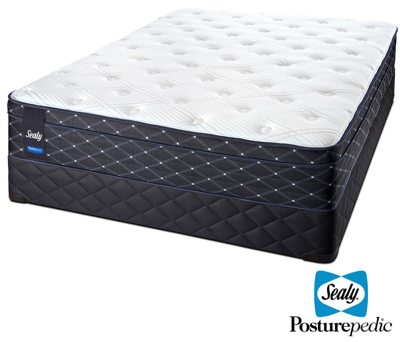 Sealy Familiar Plush Queen Mattress and Boxspring Set