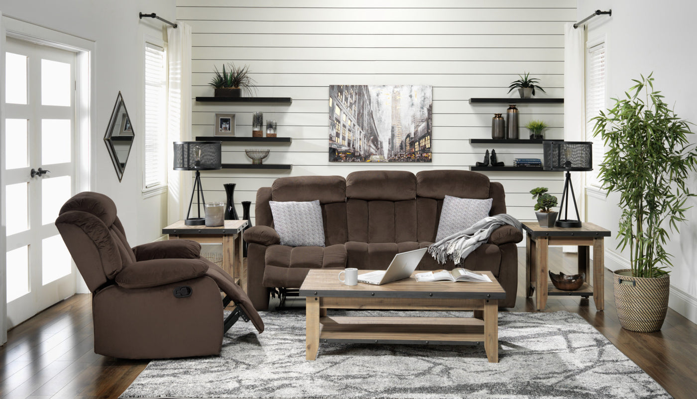 Alabama Recliner Deep Brown Leon S