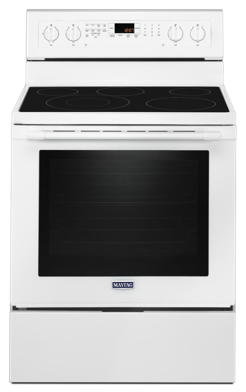 Maytag White Freestanding Electric Convection Range (6.4 Cu. Ft.) - YMER8800FW