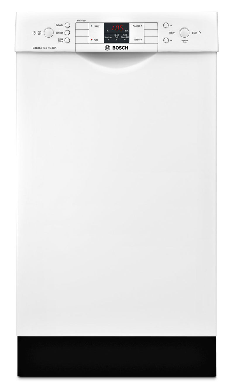 "Bosch White 18"" Dishwasher - SPE53U52UC"