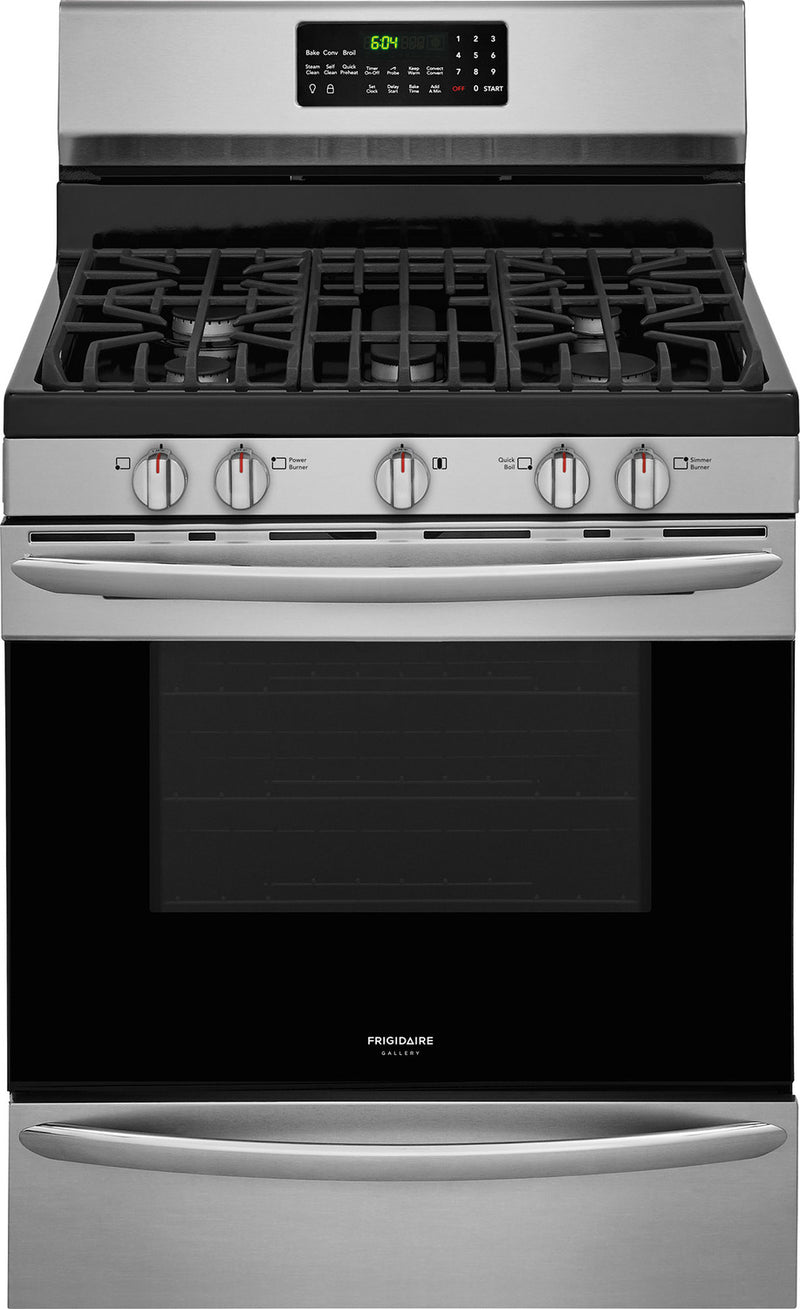 Frigidaire Gallery Stainless Steel True Convection Freestanding Gas Range (5.0 Cu. Ft.) - FGGF3059TF