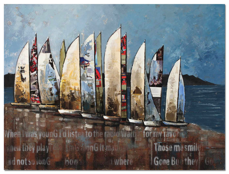 "Sail Canvas Painting (48"" X 36"")"