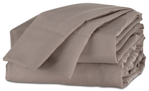 Acadia Twin Sheet Set - Taupe