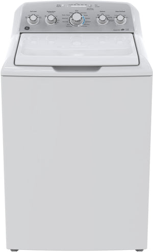 GE White Top-Load Washer (4.9 Cu. Ft.) - GTW485BMMWS