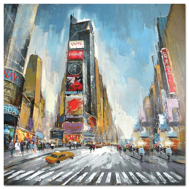 "Times Square Canvas Painting (40"" X 40"")"