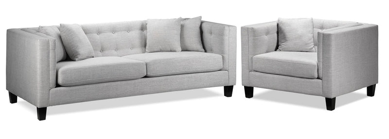 Astin Sofa and Chair and a Half - Grey