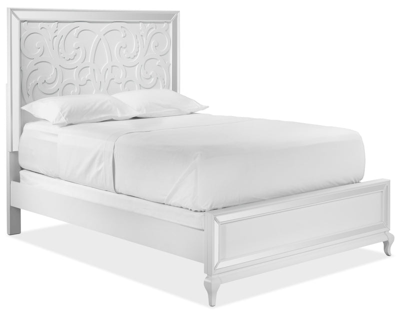 Arctic Ice Queen Bed - White