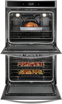 Whirlpool Stainless Steel Electric Convection Double Wall Oven (10 Cu. Ft.) - WOD77EC0HS