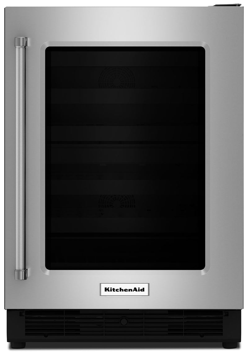 KitchenAid Stainless Steel Undercounter Refrigerator w/ Right Door Swing (4.7 Cu Ft.) - KURR204ESB