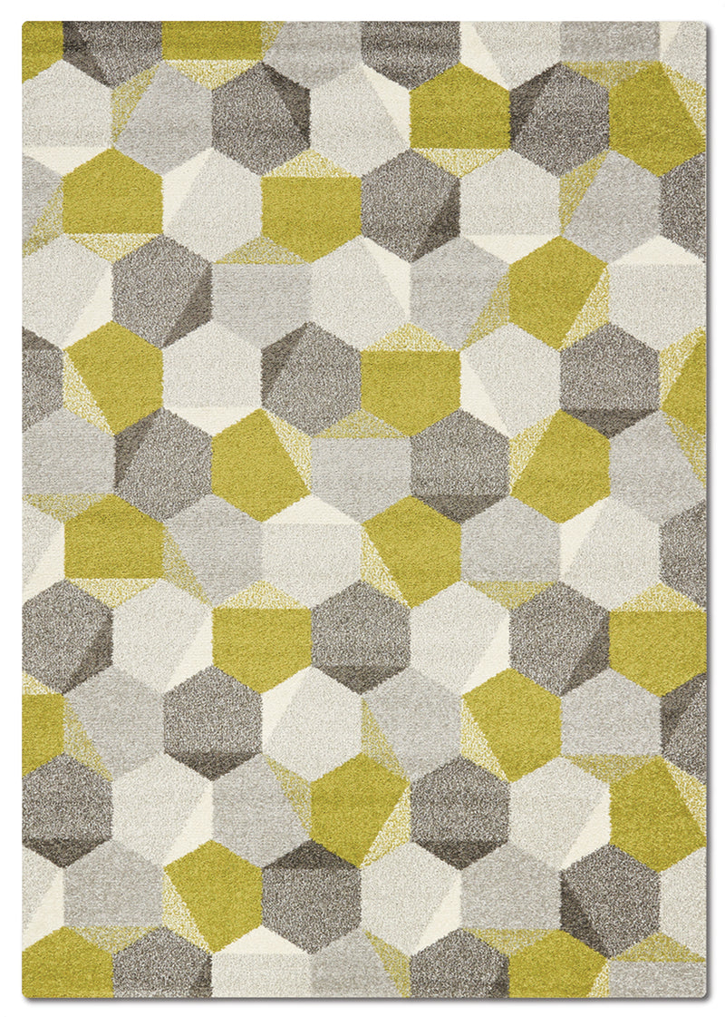 Camino 5' x 8' Area Rug - Green and Grey